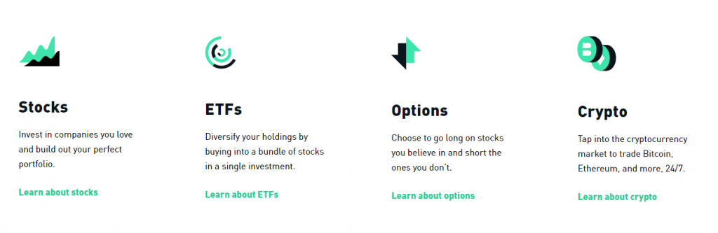 Invest in Stocks, ETFs, Options and Crypto