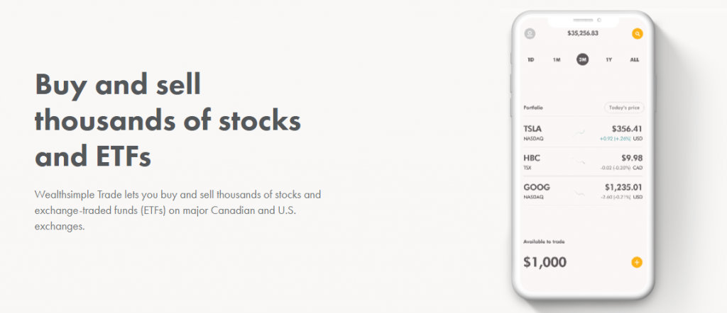 Buy and Sell Thousand of Stocks and ETFs