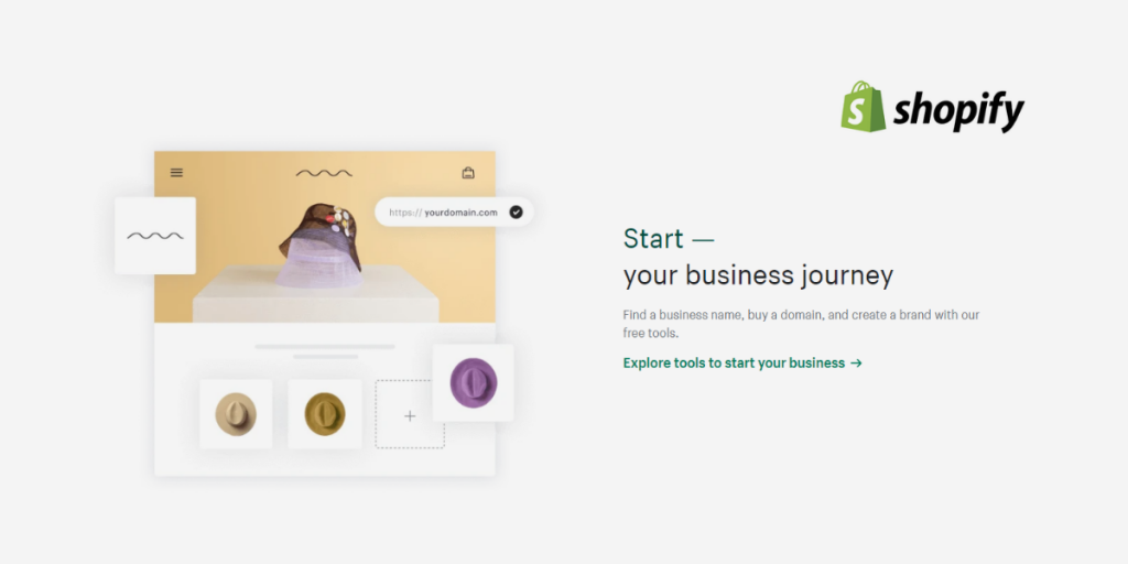Start an eCommerce store with Shopify