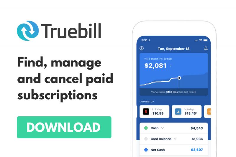 Truebill Ad
