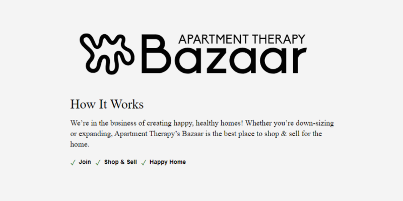 Apartment Therapy Bazar for Selling Furniture