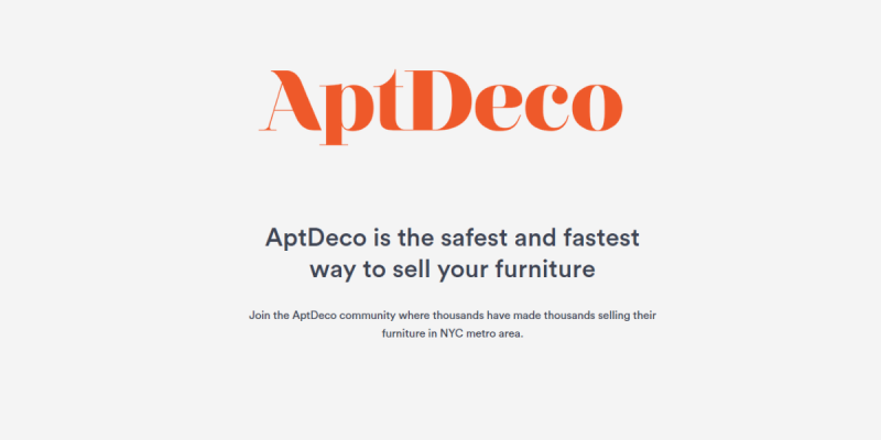 Sell Used Furniture with AptDeco