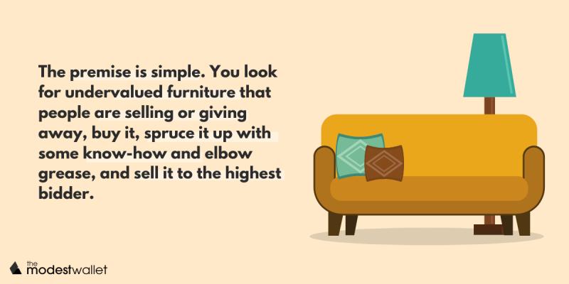 How make money flipping furniture