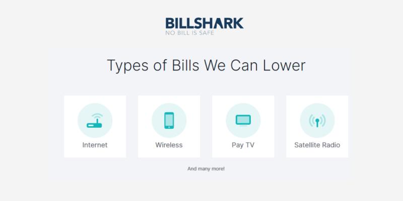 Types of Bills Billshark can Lower