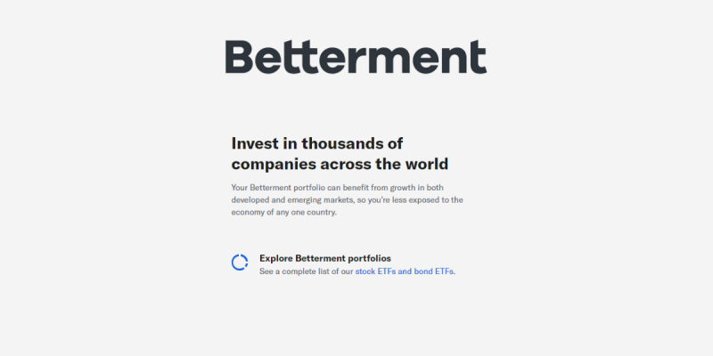 How Does Betterment Work