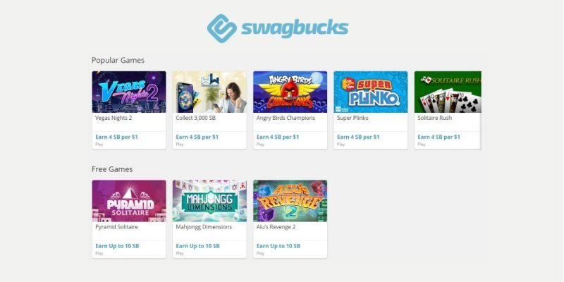 Get Paid to Play Games with Swagbucks