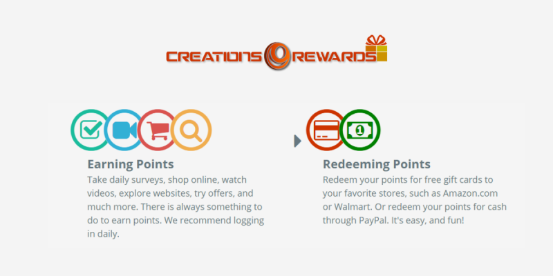 Get Paid to Watch Ads on CreationsRewards