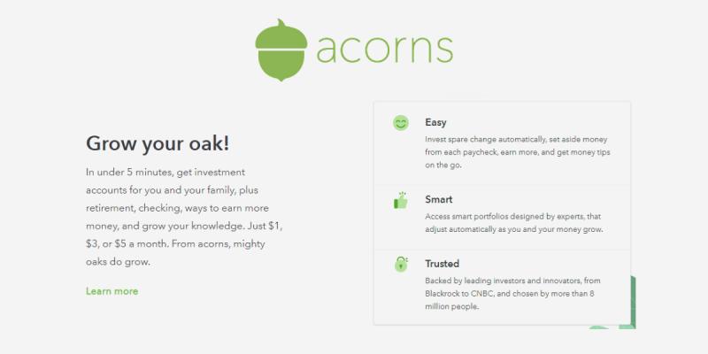 Acorns Features