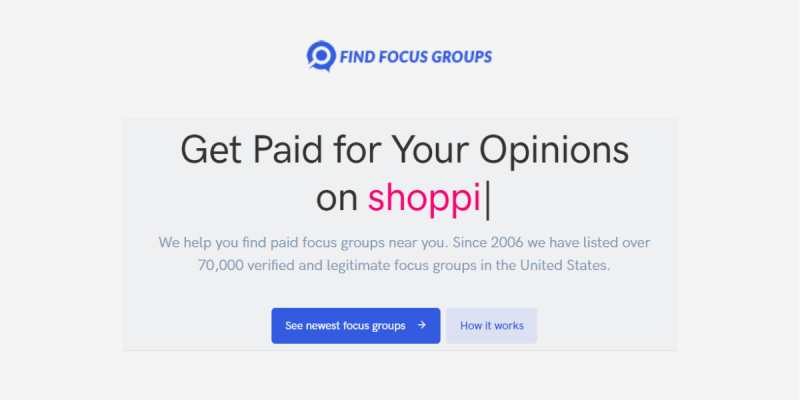 Find Focus Groups Paid Research Studies