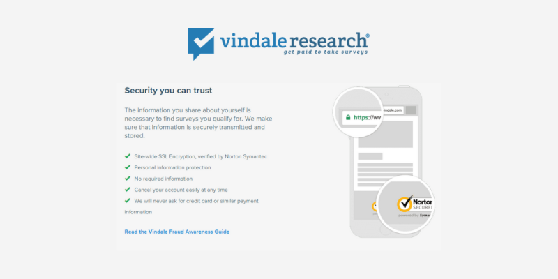 Vindale Research review: Security Features