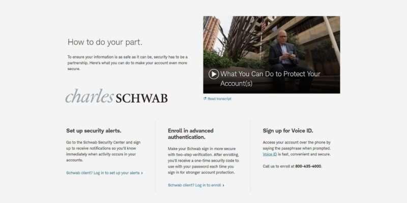 Charles Schwab Security