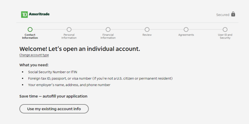 How to Open a TD Ameritrade Account