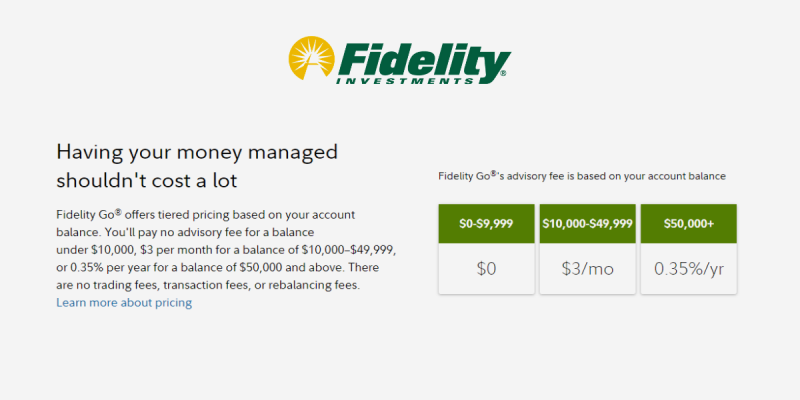 Fidelity Go Low Cost Investing