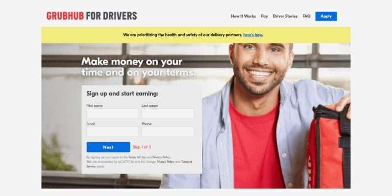 How Grubhub for Drivers Work?