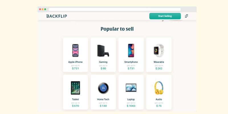 Sell Used Electronics with Backflip