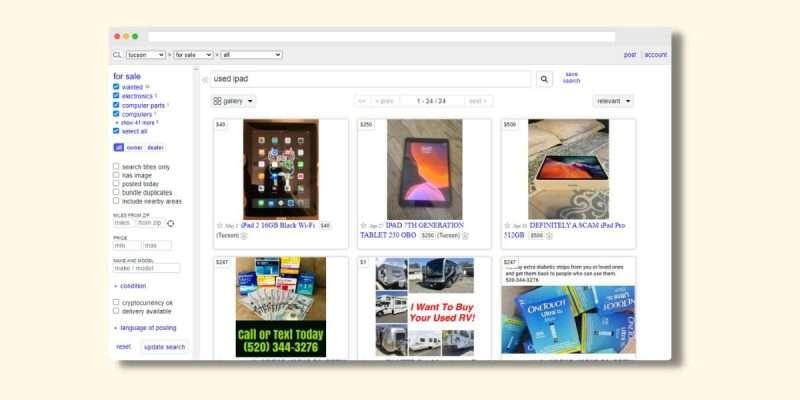 Sell Used Electronics on Craigslist