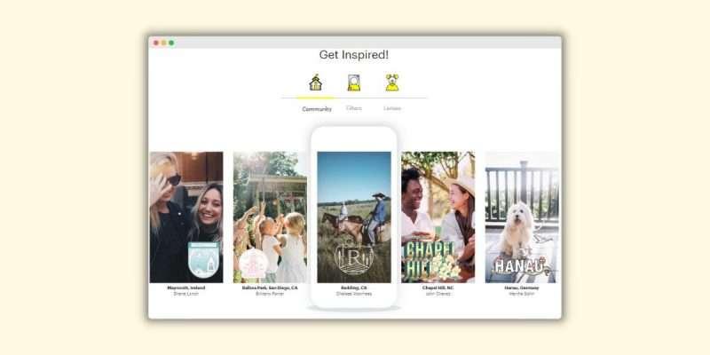 Snapchat Get Inspired