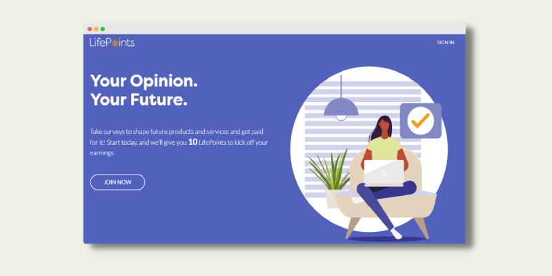 LifePoints Landing Page