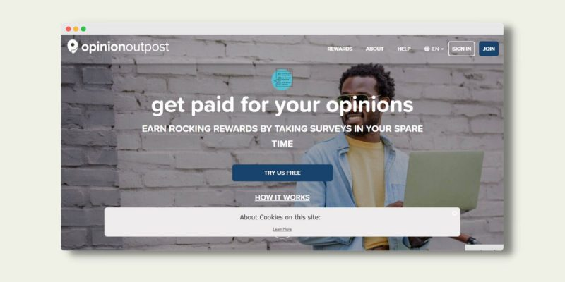 Opinion Outpost Landing Page
