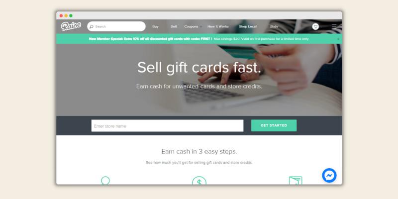 Raise Sell Amazon Gift Cards