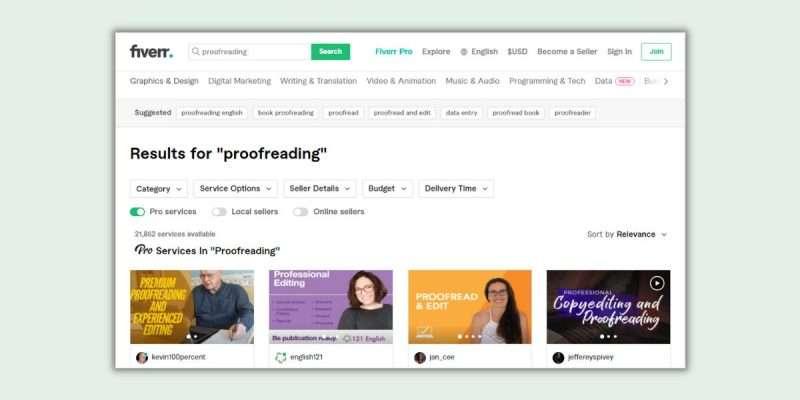 Fiverr Proofreading Jobs