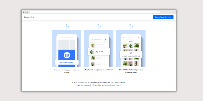 Square Online Homepage