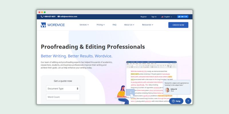Wordvice Proofreading Jobs
