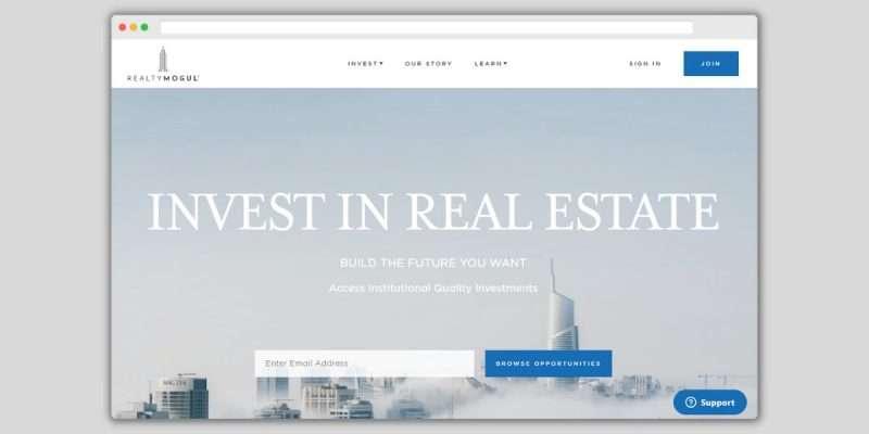 RealtyMogul Homepage