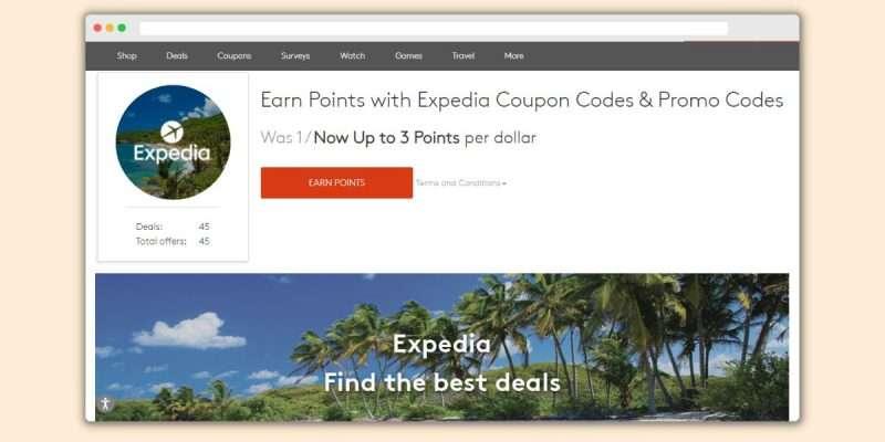 MyPoints Travel Deals